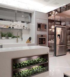"""353 curtidas, 3 comentários - Revista Formas (@revistaformas) no Instagram: """"Cozinha gourmet Ana Cristina Cunha Casa Cor Pernambuco _ #decor #decoracao #detalhes #details…"""""""