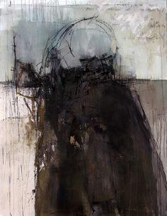 Gunter Ludwig Portugal Acrylic, asphalt, charcoal on canvas 48 x 60 2009 Contemporary Abstract Art, Abstract Landscape, Modern Art, Cy Twombly, Creation Art, Monochrom, White Art, Oeuvre D'art, Cool Art
