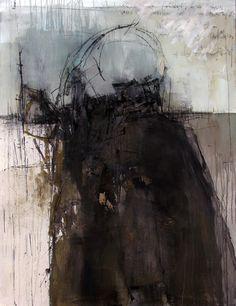 "leslieavonmiller: Gunter Ludwig ""Portugal""Acrylic, asphalt, charcoal on canvas48"" x 60""2009"