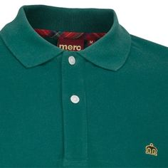 Merc Banks Dark Green Polo $64.00 Detailed Description (2 button, Dark Green Polo, 100% Cotton