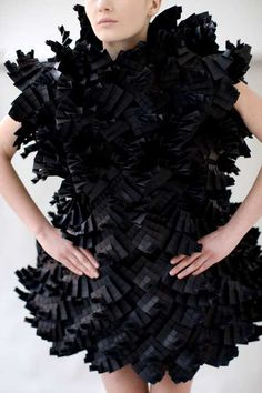Fashion Architecture - Complex Origami Couture // Morana Kranjecs  three-dimensional fashion design