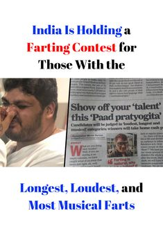 Even though farting is a natural occurrence, society has deemed it utterly repulsive, border lining immoral. But it's normal human behavior, guys! This is the message that India is trying to promote with their new competition. Wtf Funny, Funny Facts, Weird Facts, Funny Jokes, Normal Guys, Human Behavior, Hold On, Musicals, Competition
