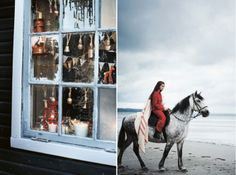 Poppytalk: Holiday Decor Inspiration from Toast. Nice window.