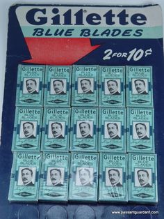 Vintage Gillette Blue Blades Store Display