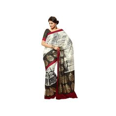 #Sun #Merchandises #Beautiful #Bhagalpuri #Black & #Cream Color #Sanganeri #Silk #Saree  shop now--->> http://goo.gl/4FYO6i