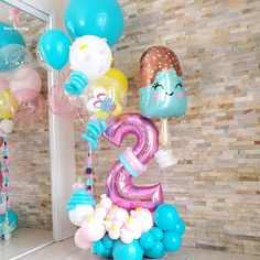 Balloon Decorations Without Helium, Rainbow Party Decorations, Birthday Balloon Decorations, Birthday Balloons, Balloons And More, Rainbow Balloons, Big Balloons, Custom Balloons, Candy Theme Birthday Party