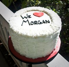 Buttercream ribbon cake