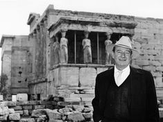 John Wayne at Aropolis of Athens Classic Actresses, Classic Movies, Westerns, Favorite Movie Quotes, Favorite Things, The Searchers, John Ford, Hollywood Men, Classic Movie Stars