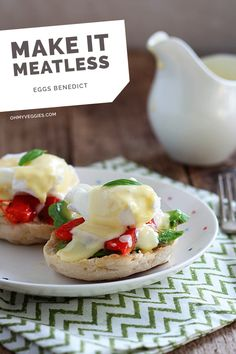 Benedict with Avocado and Roasted Red Pepper Eggs Benedict with Avocado & Roasted Red Pepper RecipeEggs Benedict with Avocado & Roasted Red Pepper Recipe Vegetarian Eggs Benedict Recipe, Vegetarian Recipes, Breakfast Dishes, Breakfast Recipes, Red Pepper Recipes, Sauce Hollandaise, Appetizer Recipes, Food To Make, Favorite Recipes