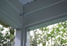 hanging porch curtains tutorial