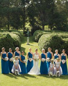 Bridesmaids in Teal