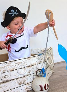 DIY idea: pirate ship. Living With Kids: Kate Benbow