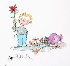 I LOVE YOU MUMMY by SIR QUENTIN BLAKE Quentin Blake Illustrations, Easter Illustration, Short Messages, Hip Hip, Cloud 9, Christmas Images, Drawing For Kids, Children's Books, Unique Art