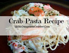 Using dungeness crabs, Mr dungeness crabber makes a delicious and simple meal with pasta. Crab Meat Pasta, Crab Pasta Recipes, Us Foods, Seafood, Main Dishes, Spaghetti, Food And Drink, Quilts, Chicken