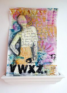 Art Journaling with Dina Wakley: Page 3 | Flickr - Photo Sharing!