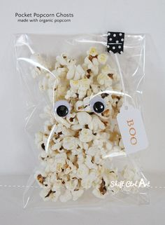 Pocket popcorn ghosts halloween trick or treat
