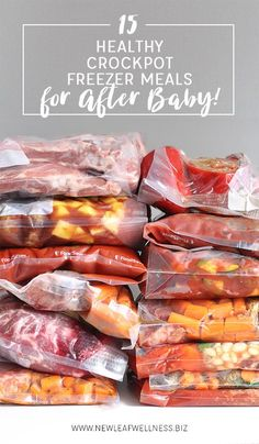 15 Healthy Crockpot Freezer Meals for After Baby