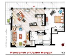 Own the apartment layouts of your favorite TV characters ... and then hang them on your wall.