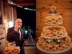 Doughnut Tower For Weddings!  Carrie + Jason: A Barnyard Affair » Meagan Abell Photography