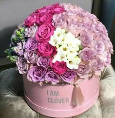 Bunch Of Flowers, Diy Flowers, Pretty Flowers, Fresh Flowers, Flower Box Gift, Flower Boxes, Bouquet Box, Mothers Day Flowers, Floral Bouquets