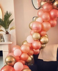 Rose gold balloons gold balloons balloon garland