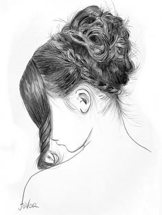"Saatchi Online Artist: Loui Jover; Conté, Drawing ""janes reserve""   I wish I could draw hair that good!"