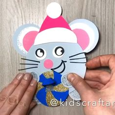 mouse crafts Winter christmas paper crafts for kids mouse Winter Crafts For Kids, Paper Crafts For Kids, Cardboard Crafts, Preschool Crafts, Diy For Kids, Christmas Paper Crafts, Christmas Art, Winter Christmas, Mouse Crafts
