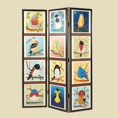 Pati B Collection Bird Screen 89 003. h1Pati B Collection Bird Screen 89 003_h1The Pati B Collection Bird Screen 89-003. This modern room screen has been cleverly hand painted by artists to depict the well loved birds of the Pati B Collection. Three double hi.. . See More Room Screens at http://www.ourgreatshop.com/Room-Screens-C1110.aspx