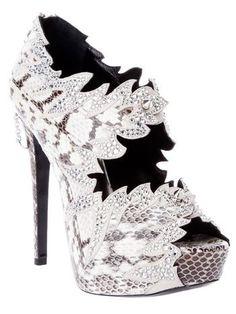 PHILIPP PLEIN Python skin heel. Need I say more?!