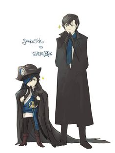 Pirate VS Consulting Detective by imwhooo.deviantart.com on @deviantART