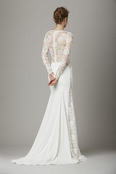 Lela Rose The Lounge lace back wedding dress