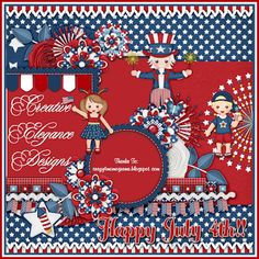 Scrapbooking TammyTags -- TT - Designer - Creative Elegance Designs, TT- Item - Quick Page, TT - Theme - Patriotic or July 4th