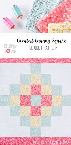 Quilty Love | Free Pattern – The Greatest Granny Square Quilt | http://www.quiltylove.com
