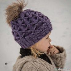 Красивое вязание | Шапочка спицами узором Клоке.
