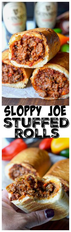 This Sloppy Joe stuffed rolls recipe  is so easy a little twist on the classic sloppy Joe.