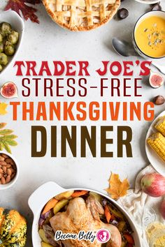 Yes, you read the title correctly this article is all about The Stress-Free Trader Joe's Thanksgiving and Holiday Dinner Ready in 1 Hour. It is possible to have a complete Thanksgiving dinner ready in an hour. Based on my calculation, it may only set you back an extra $0.83 per person! | Become Betty @becomebetty #traderjoes #traderjoesthanksgiving #traderjoesshopping #traderjoesthanksgivingpies #traderjoesfall #traderjoesdiditagain #traderjoesfan #traderjoesreview #becomebetty