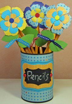 Classroom Organization -- Spring Pencil Can