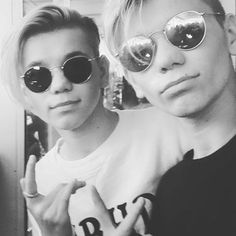 I love them ssssssooooooooo much! Famous Twins, You Are My Life, I Go Crazy, Back Off, Good Music, Persona, Round Sunglasses, Mac, Singer