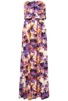 Tall Floral Maxi Dress with black or white sandals....so my style