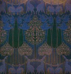 Charles Voysey - woven textile