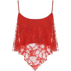 PaperMoon Women's Lace Camisole Crop Top ($4.47) ❤ liked on Polyvore featuring tops, shirts, shirt crop top, cropped tops, lace top, cami top and crop shirt