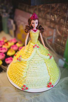 Belle - Arianna's 3rd Birthday Cake! Made by Mom(Terri Sheeley)!