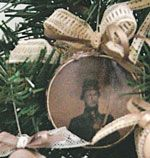 Old photo Christmas ornaments - I'm sure we could get copies of grandparents photos.  Would love to do some of us as kids as well.