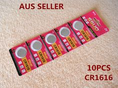 10pcs CR1616 Button Cell Battery Coin Lithium Battery 3V Watches Toy Calculator