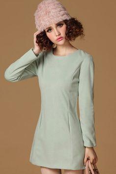 Easy Long Sleeve Dress OASAP.com