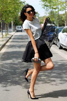 Cute Skirt Outfits, Sexy Outfits, Fashion Outfits, Sexy Legs And Heels, Hot High Heels, Fashion Heels, Girl Fashion, Womens Fashion, Black Stiletto Heels