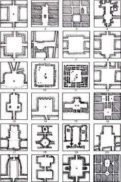Purestform Orthogonal plans for squares Rob Krier, Typological & morphological elements of the concept of urban space, London, AD and Acroshaw Ltd Landscape Architecture Drawing, Landscape And Urbanism, Concept Architecture, Urban Landscape, Landscape Design, Urban Design Diagram, Urban Design Plan, Urbane Analyse, Urban Fabric