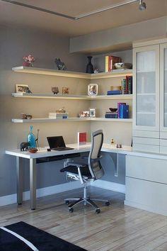 Office Furniture Home Corner Desk Wall Shelf Diy Small Black