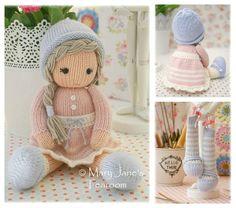 Little Yarn Dolls: Method 2/ PDF Doll Knitting por maryjanestearoom