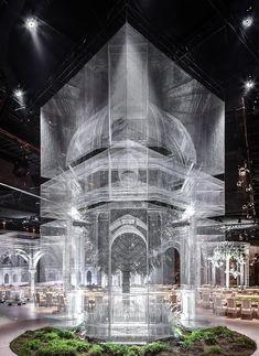 Archetipo - Edoardo Tresoldi Amazing Architecture, Modern Architecture, Gropius Bau, Instalation Art, Stage Design, Set Design, Light Art, Urban Art, Sculpture Art